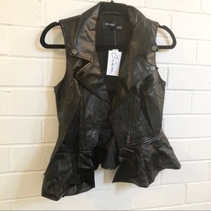 🌞 Leather Vest Top